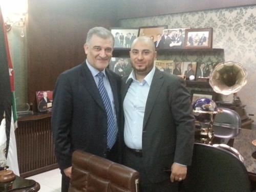 الدكتور مصطفى العفوري يستقبل رئيس